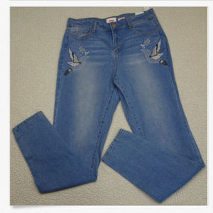 Bongo Junior Size 16 Embroidered Light Wash Jeans